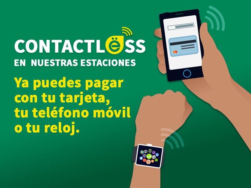 ¡Paga con contactless en nuestras estaciones!